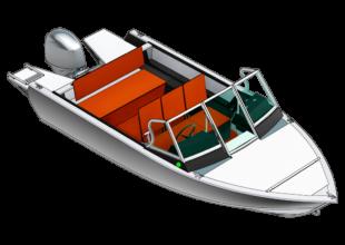 BowDeck <br>Sonderausführung mit riesigem Buggepäckstiefel unter starkem Deckdeck